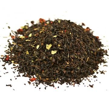 Черный чай Земляника сливки
